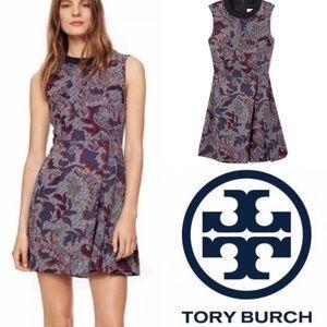 TORY BURCH Dahlia Pixelated Brocade Dress Size 8